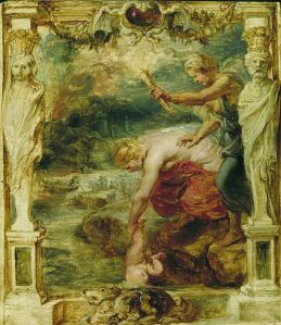 """Thetis dipping the infant Achilles into the river Styx."" Peter Paul Rubens, ~1630 C.E."
